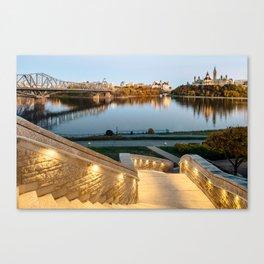 Sunset on Ottawa Canvas Print