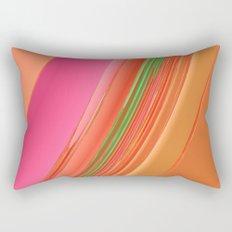 Peach Apricot Mango Bold Stripes Rectangular Pillow
