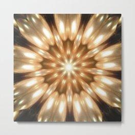 Luxurious Antique Pearls Kaleidoscope Metal Print