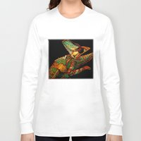 number Long Sleeve T-shirts featuring KARMA CHAMELEON by Catspaws
