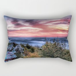 Stained Sunrise Rectangular Pillow
