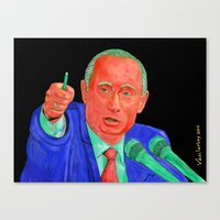 putin Canvas Prints featuring Red Putin by Sam Vasilevsky