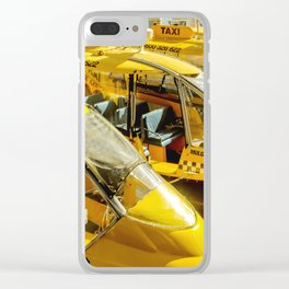 Yellow Taxi Boats Clear iPhone Case
