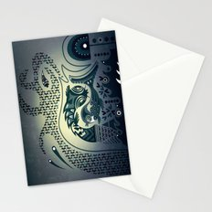 Midnight swirls Stationery Cards