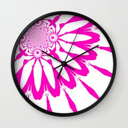 The Modern Flower White & Magenta Pink Wall Clock