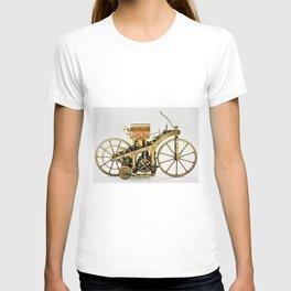 1885 Daimler-Maybah Reitwagen riding car - world's first motorcycle T-shirt
