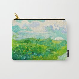 Field with Green Wheat 1890 Oil Painting By Vincent Van Gogh Carry-All Pouch