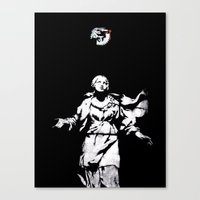 guns Canvas Prints featuring Holy Guns by MRCRMB