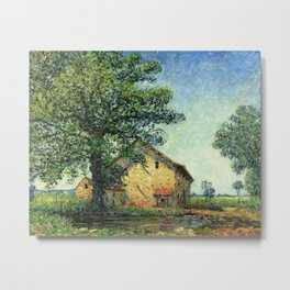 French Country Farm House at La Petite Mare by Francis Picabia Metal Print