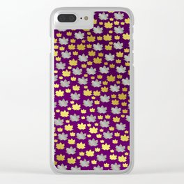 gold,silver,purple,maple, leaf, canadian, canada, symbol, design, background, fall, element, tree, c Clear iPhone Case