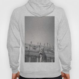 St. Peter's Basilica, Vatican City, Rome, architecture photography, black & white, Baroque Hoody
