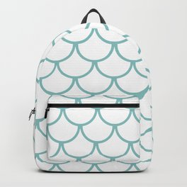 Chalky Blue Fish Scales Pattern Backpack
