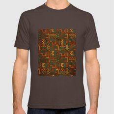 African Brown Mens Fitted Tee SMALL