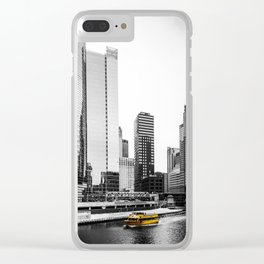 Yellow Boat Clear iPhone Case