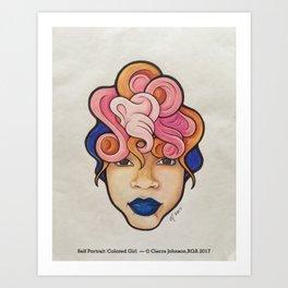 """Colored Girl: Self Portrait"" 2017 Art Print"
