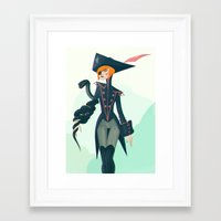 pirate Framed Art Prints featuring Pirate by Lunacy