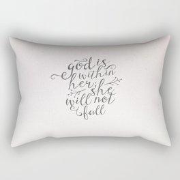 SHE WILL NOT FALL Rectangular Pillow