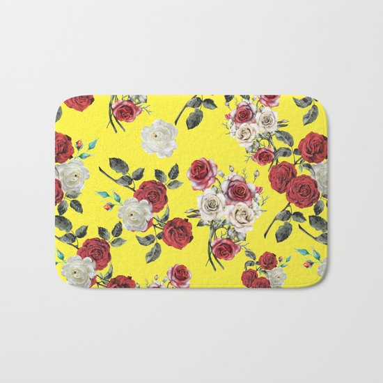 Botanical Pattern Bath Mat