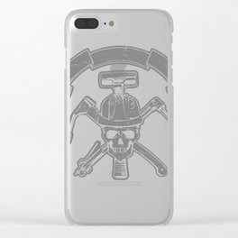 Death construction worker Clear iPhone Case