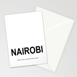 NAIROBI Never been, just like the word! Stationery Cards