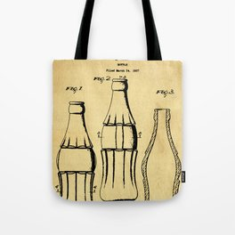 Bottle Support Patent Drawing From 1937 Tote Bag