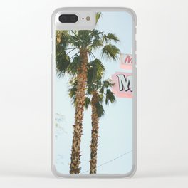 Motel Vintage Sign Clear iPhone Case
