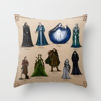 valar morghulis Throw Pillows featuring The Aratar by wolfanita