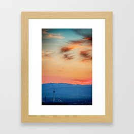 Sunsets In Vegas Framed Art Print