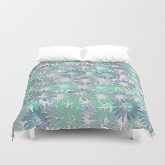 Painterly Embossed Floral Absract Duvet Cover