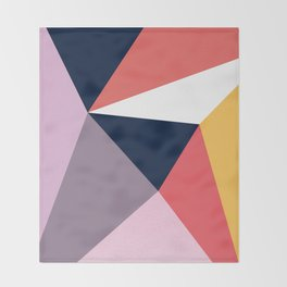 Modern Poetic Geometry Throw Blanket