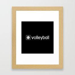 Volleyball (Grey) Framed Art Print