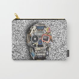 retro tech skull 5 Carry-All Pouch