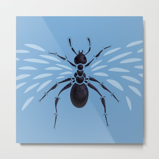Weird Abstract Flying Ant Metal Print