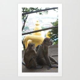 Batu Caves Monkey Art Print