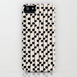 Dots / Black & White Pattern iPhone Case