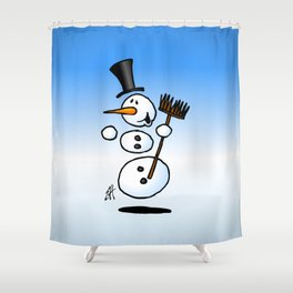Dancing snowman Shower Curtain