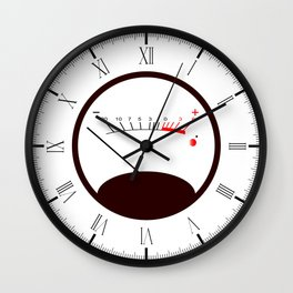 Round VU Meter No Signal Wall Clock