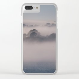 Drake's Island in the Mist Clear iPhone Case