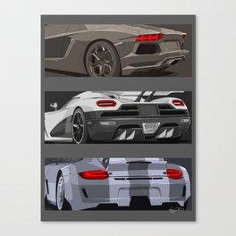 super cars Canvas Print