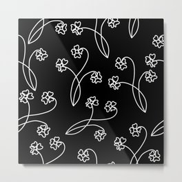 flor blanca Metal Print