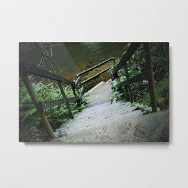 Crystal Creek Stairs Metal Print