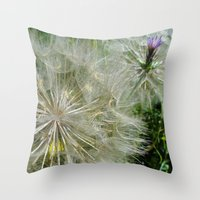 foo fighters Throw Pillows featuring Foo Foo by aeolia