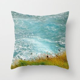 Irish sea Throw Pillow