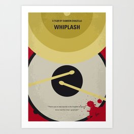 No761 My Whiplash minimal movie poster Art Print