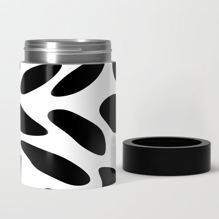 Black Pebbles Motif Can Cooler