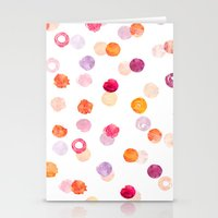 polka Stationery Cards featuring Polka by Eleanor Amelia