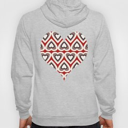 Strawberry and Chocolate Cream Love Hearts Hoody