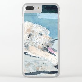 Stretching Cream Labradoodle Clear iPhone Case