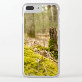 Mossy forest floor Clear iPhone Case