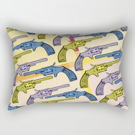 Vintage wild west hand gun pattern repeat Rectangular Pillow